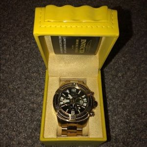 Invicta S1 Rally Gold Tone watch